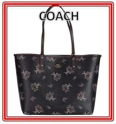 Coach マザーズバッグ 関税.送料込 COACH Ribbon Bouquet  Reversible City トート