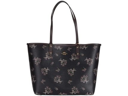 Coach マザーズバッグ 関税.送料込 COACH Ribbon Bouquet  Reversible City トート(2)