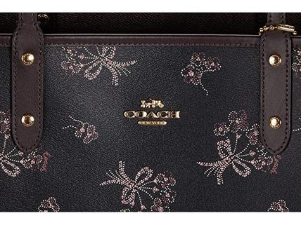 Coach マザーズバッグ 関税.送料込 COACH Ribbon Bouquet  Reversible City トート(5)