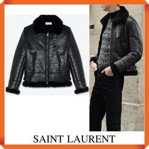 SAINT LAURENT AVIATOR JACKET IN SHEEPSKIN WITH SHEARLING