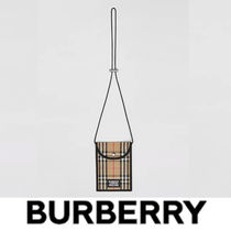 Burberry Logo Applique Vintage Check Phone Case Lanyard