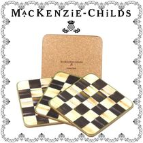 ★MacKenzie-Childs★Courtly Check コースター4点セット Black