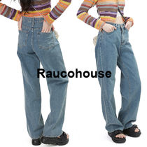 RAUCOHOUSE SLIM DENIM WIDE PANTS