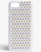 THE CASE FACTORY★IPHONE SE/7/8 MIXED STUDS LIZARD WHITE
