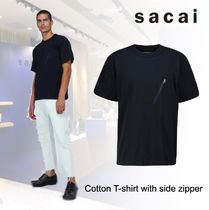 洒落感抜群◆ sacai ◆Cotton T-shirt with side zipper◆関税込