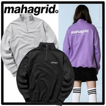 ☆送料・関税込☆mahagrid★HALF ZIP SWEAT SHIRTS★3色★