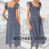 Michael Kors☆Floral Cotton Lawn Midi Dress☆ドレス☆送料込