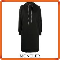 MONCLER Embroidered logo hoodie dress