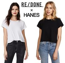 RE DONE(リダン) Tシャツ・カットソー 国内発送☆RE DONE × HANES コラボ クロップドTシャツ 2色