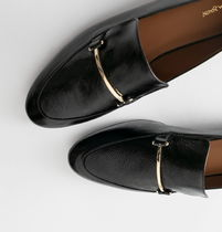 """""""& Other Stories"""" Patent Leather Buckle Loafers Black"""