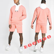 ★boohoo★MAN OFFICIALカラーブロック SHORT TRACKSUIT:CORAL