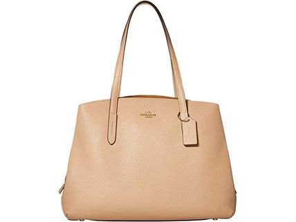 Coach マザーズバッグ 関税.送料込 COACH Polished Pebble Leather Charlie 40 トート(2)