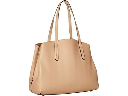 Coach マザーズバッグ 関税.送料込 COACH Polished Pebble Leather Charlie 40 トート(3)