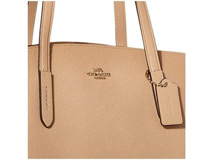 Coach マザーズバッグ 関税.送料込 COACH Polished Pebble Leather Charlie 40 トート(4)