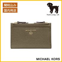 【Michael Kors】Small Pebbled Leather Card Case◆国内発送◆