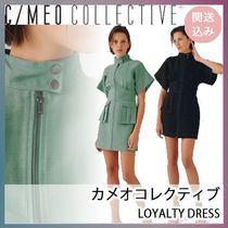 CAMEO COLLECTIVE(カメオコレクティブ) ワンピース ★C/MEO COLLECTIVE★フロントジッパーワンピ 2色 関・送込