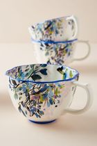 セール! Anthropologie Gardenshire Mugs, Set of 4