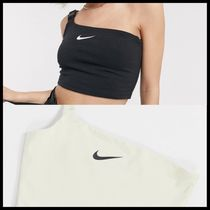 国内発送★Nike one shoulder buckle crop top