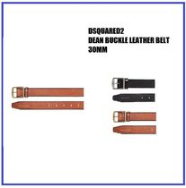 [DSQUARED2] DEAN BUCKLE LEATHER BELT 30MM (送料関税込み)