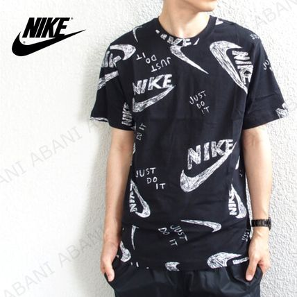 国内発送☆ナイキ★NIKE MEN'S NSW AOP TEE★BLACK/WHITE