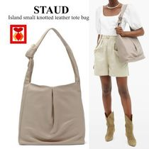 【STAUD】Island small knotted leather tote bag☆レザートート
