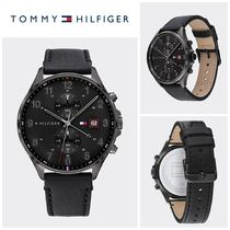【Tommy Hilfiger】☆人気☆SUB-DIAL WATCH WITH BLACK LEATHER