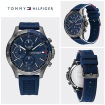 【Tommy Hilfiger】☆人気☆GUNMETAL WATCH WITH SILICONE STRAP