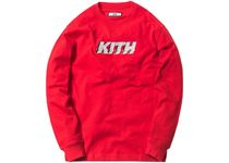 Kith Glitch LS Tee Red