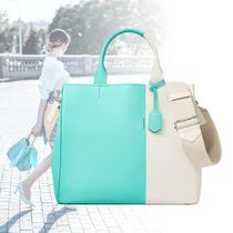 <Tiffany & Co>Color Block*カーフスキンレザー トートバッグ