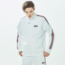 [ FILA ] White-Line Linear Bicolor Tape Zip-Up (Off white)