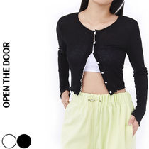 OPEN THE DOOR(オープンザドア)★Wave Crop Cardigan  2色