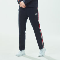 [ FILA ] White-Line Linear Bicolor Tape Pants (Ink navy)