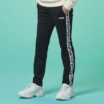 [ FILA ] Heritage Linear Tape Track Pants (Black)