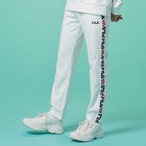 [ FILA ] Heritage Linear Tape Track Pants (Off white)