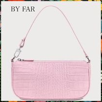 BY FAR☆RACHEL CROCO EMBOSSED LEATHER BAGレザーバッグ ピンク