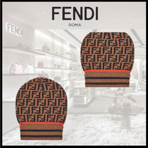 FENDI  HAT Brown hat in cashmere and wool