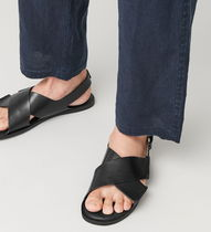 """COS(コス) サンダル """"COS MEN"""" CROSSOVER LEATHER SANDALS BLACK"""