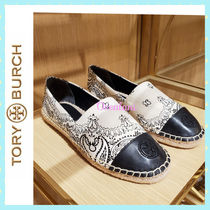 [TORY BURCH] エスパドリーユ Printed Color-Block Espadrille