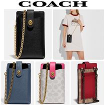 COACH* Turnlock Chain Phone ショルダー iPhone スマホケース