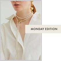 MONDAY EDITION*送料込*Linked Pearl Long Necklace*ネックレス