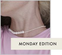 Monday Edition(マンデイエディション) ネックレス・ペンダント MONDAY EDITION*送料込*The Mixed Pearl Necklace*ネックレス