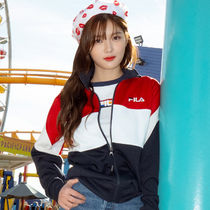[ FILA ] New-Heritage Color Block Track Top (Dark red)セレブ