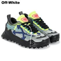 OFF WHITE メンズ LOW-TOP ODSY-1000 レザーメッシュ スニーカー