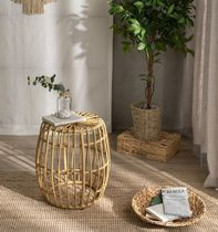 DECOVIEW ★ NATURAL RATTAN STYLE TABLE STOOL 韓国雑貨