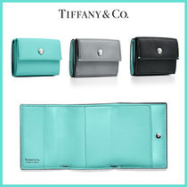 [Tiffany&Co]Leather Wallet コンパクト レザー ウォレット 3色