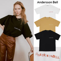 ANDERSSON BELL★UNISEX HEART LOGO EMBROIDERY 半袖Tシャツ 3色