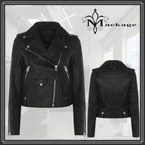 Mackage★BAYA classic leather and suede ライダース jacket