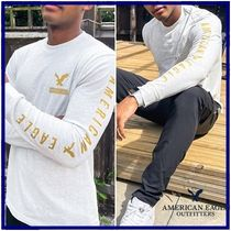 American Eagle Outfitters(アメリカンイーグル) Tシャツ・カットソー ☆American Eagle☆ロングスリーブロゴTシャツ グレー