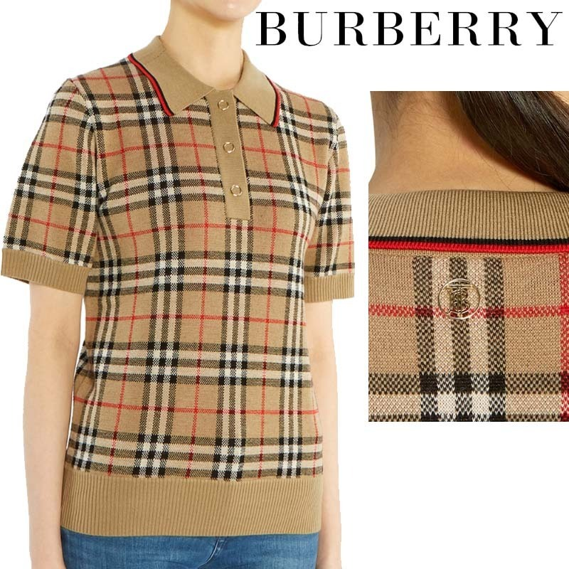 Burberry★Ladies WOOL POLO KNIT - 8017141 (Burberry/ニット・セーター) 8017141