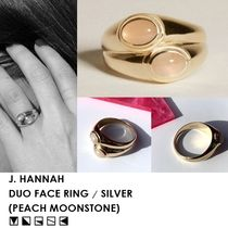 【SS20】J. HANNAH・DUO FACE RING(PEACH MOONSTONE)・シルバー